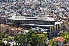 上城雅典希腊博物馆 免版税库存照片