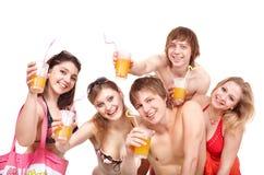 享用组人的鸡尾酒 库存图片