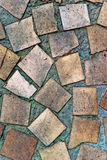 镶嵌构造墙壁 库存图片