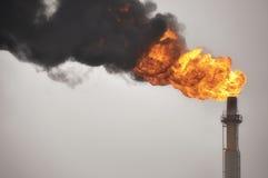 αέριο φλογών Στοκ Εικόνα