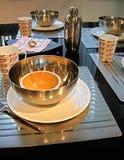 早餐桌 免版税库存照片