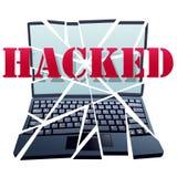 中断计算机失败黑客编结证券 免版税库存图片