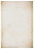 увяданная старая бумажная белизна листа Стоковое Фото
