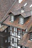 结构房子的瓦屋顶 免版税库存图片