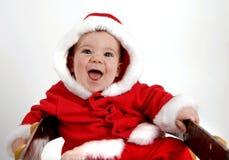 婴孩圣诞老人 库存图片