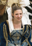 中世纪的夫人 免版税库存照片