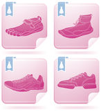 鞋子体育运动 免版税图库摄影