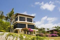 热带的海滨别墅 库存图片