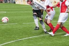 слепой футбол спички Стоковое фото RF