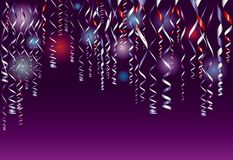 五彩纸屑紫色 免版税库存照片