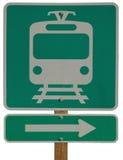 轻的铁路运输权利岗位 免版税库存图片