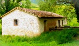 акварель дома старая Стоковое Изображение