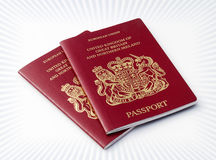 护照二英国 免版税库存图片