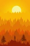 солнце горы Стоковая Фотография RF
