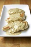 Κοτόπουλο με τη σάλτσα κρέμας μουστάρδας Στοκ φωτογραφία με δικαίωμα ελεύθερης χρήσης