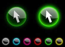 стрелка кнопки Стоковые Изображения