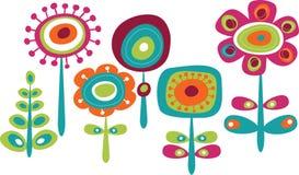 Χαριτωμένα ζωηρόχρωμα θερινά λουλούδια Στοκ Εικόνες