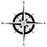 компас просто Стоковое фото RF