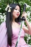 美丽的日本妇女 免版税库存图片