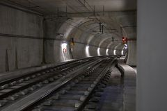 σήραγγα υπόγεια Στοκ φωτογραφία με δικαίωμα ελεύθερης χρήσης