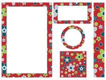 декоративный флористический комплект Стоковое Изображение RF