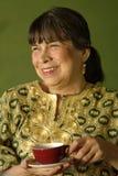 放松西班牙的女家长 免版税图库摄影