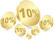 τοις εκατό δέκα έκπτωσης Στοκ εικόνα με δικαίωμα ελεύθερης χρήσης