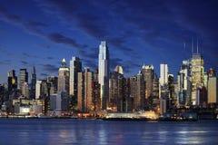 καταπληκτική πόλη Μανχάτταν νέα Νέα Υόρκη στην όψη Υόρκη Στοκ Εικόνες
