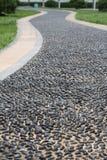 小卵石路绕 免版税库存照片