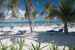 海滩墨西哥视图 免版税库存图片