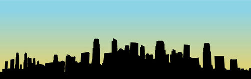 都市风景剪影向量 免版税库存图片