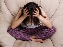 青少年女性的失败 免版税库存照片