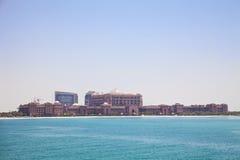 阿布扎比酋长管辖区宫殿阿拉伯联合&# 免版税库存照片