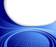 抽象蓝色企业高技术模板 免版税库存照片