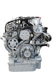 引擎前大量查出的卡车视图 库存图片