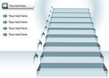 图表楼梯 图库摄影