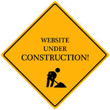 конструкция под вебсайтом Стоковые Фото