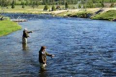 αλιεύοντας μύγα Στοκ Εικόνες