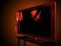 τρισδιάστατη τηλεόραση Στοκ Φωτογραφίες