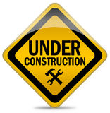 знак конструкции вниз Стоковые Изображения