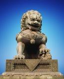 中国龙雕塑雕象 免版税库存图片