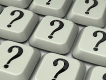вопрос о метки клавиатуры Стоковое Фото