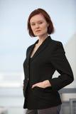 有吸引力的女实业家白种人三十 免版税库存照片