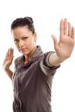 απομονωμένη γυναίκα δύναμη Στοκ φωτογραφία με δικαίωμα ελεύθερης χρήσης
