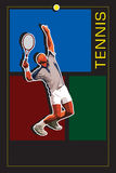теннис шаблона сервера Стоковые Изображения