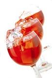 干浅红色的酒 免版税库存照片