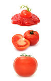 番茄酱集合蕃茄 免版税库存图片