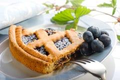 тарелка торта голубик Стоковые Изображения