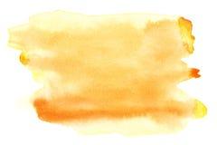 желтый цвет акварели Стоковые Изображения