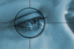 眼睛技术 免版税库存图片